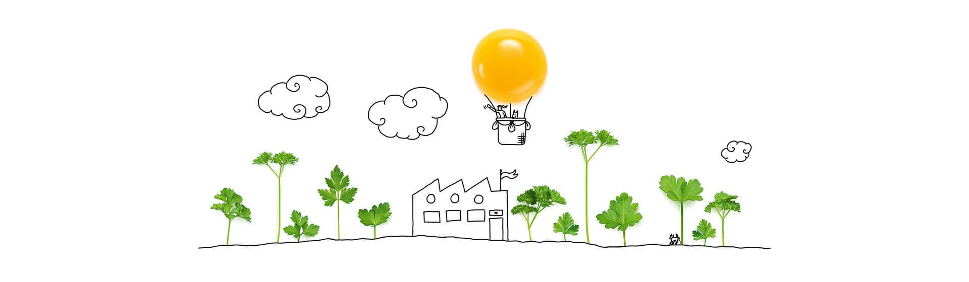 Ballon aus Eigelb