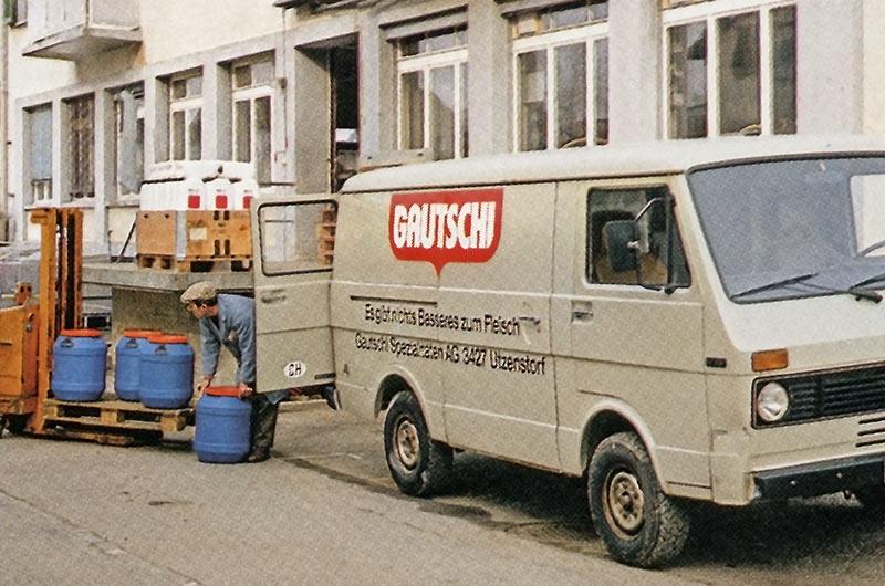 Altes Foto von Gautschi Lieferwagen